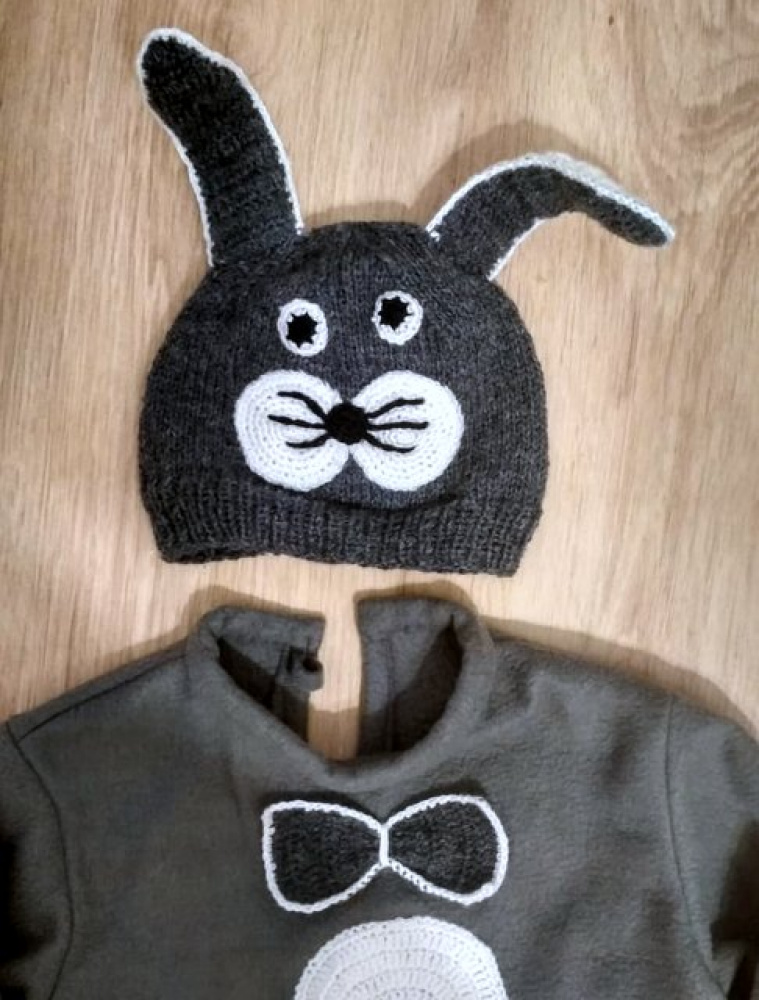 Bunny, hare carnival costume for kids