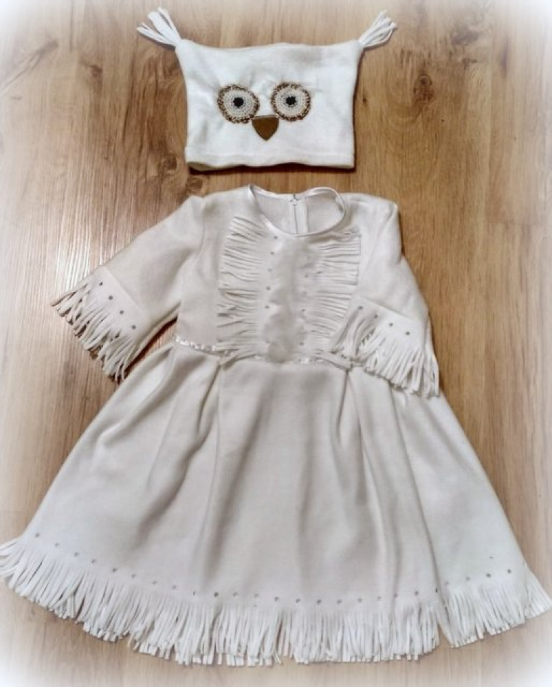 White Owl Carnival Costume for Girl