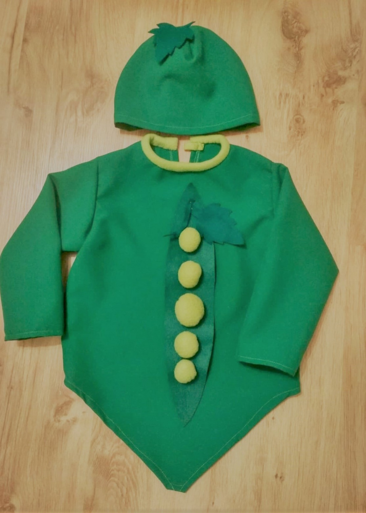 Pea carnival costume for kids