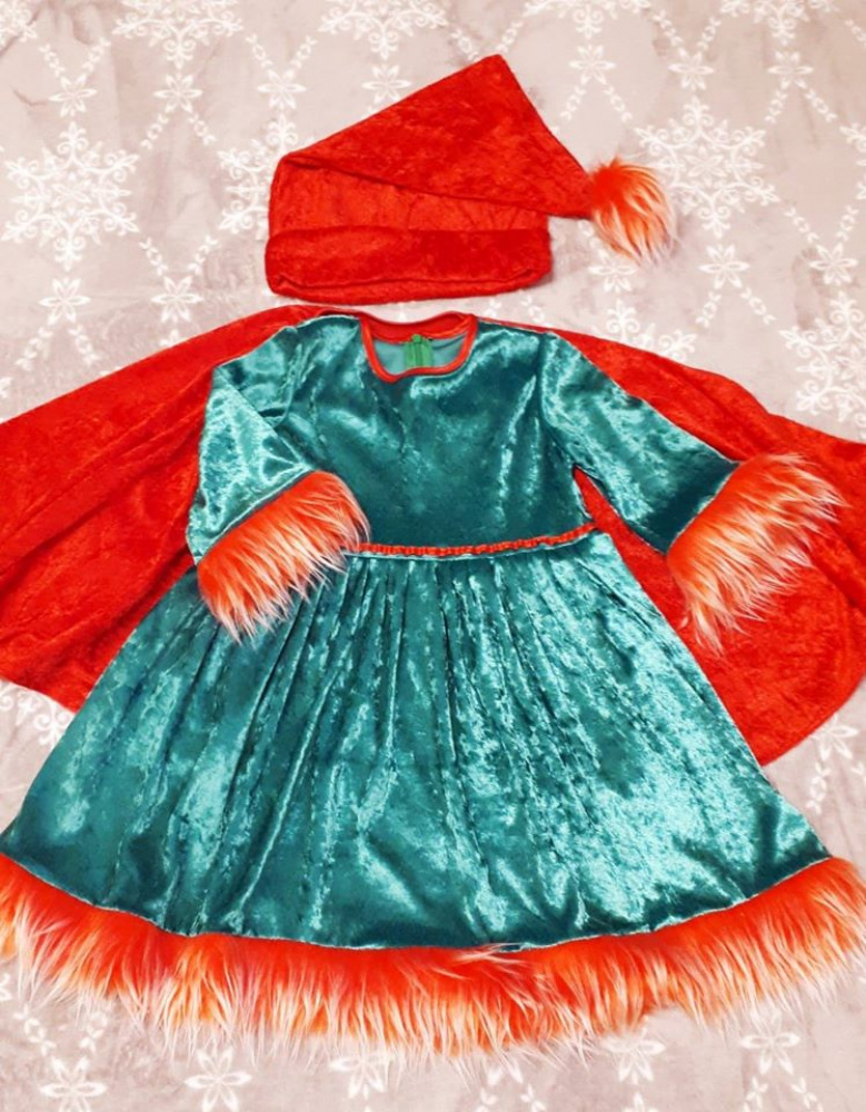 Gnome carnival costume for Girl with mantle