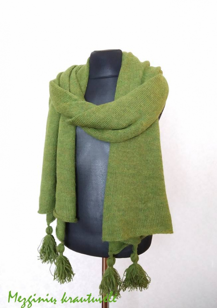 Large scarf 200 x 50 ,with which you will be able to wrap your shoulders, wrap your neck