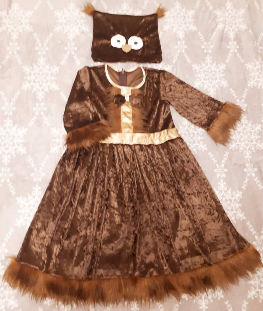 Owl carnival costume for a girl + -116