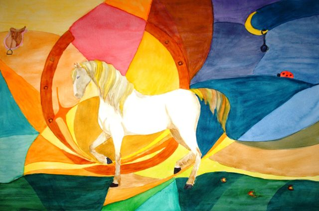 Margaspalvis Horse Artist Laukinebite Handmade Watercolor Ideas Made By Drawing