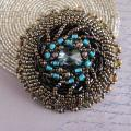 SEA WAVE - Brooches - beadwork