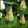 Green evening - Decorated bottles - making