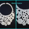 "Crocheted Necklace "" Bride "" - Necklace - needlework"