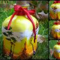 Autumn - Decorated bottles - making