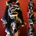 Black and white coated with gray country - Wraps & cloaks - felting