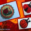 Ladybugs - Lace - needlework