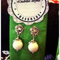 White coral earrings - Earrings - beadwork