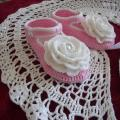 crocheted christening set girl - Baptism clothes - needlework