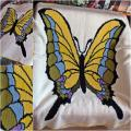 "Plaid "" butterfly "" - Plaids & blankets - needlework"