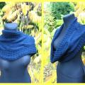 blue snood - Other knitwear - knitwork
