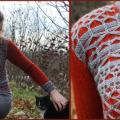 "Knitted sweater ""Autumn butterflies"" - Sweaters & jackets - knitwork"