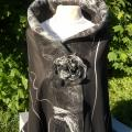 Black and white elegance - Wraps & cloaks - felting