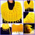 Yellow Yellow - Wraps & cloaks - knitwork