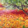 Summer color 70x50 - Oil painting - drawing