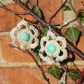 Winter earrings - Earrings - needlework