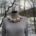 Wool ornament - of apple blossoms - Necklaces - felting