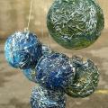 Christmas Bubbles - Decoupage - making