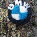 BMW badge - Pendants - felting