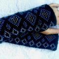 HAnd warmers - sweet candy  - Wristlets - knitwork