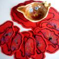 Poppy meadow - Tablecloths & napkins - felting