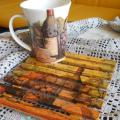 A cup of fragrant tea and a tray - Decoupage - making
