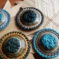 Brooches ,, Sea stones & # 039; & # 039; - Leather articles - making