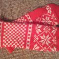 Christmas gloves - Gloves & mittens - knitwork