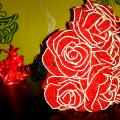 Red roses - Biser - beadwork