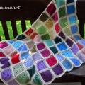 "Baby blanket ""Colourful squares"" - Plaids & blankets - needlework"