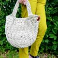Crocheted handbag for everyday, size M. - Handbags & wallets - needlework