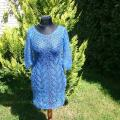 Blue dress - Dresses - knitwork