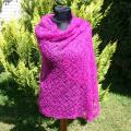 Crocheted handmade purple scarf - Wraps & cloaks - needlework