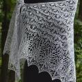 Knitted linen shawl - Wraps & cloaks - knitwork