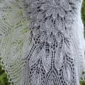 white knitted shawl - Wraps & cloaks - knitwork