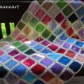 "Afgan ""Colourful squares 2"" - Plaids & blankets - needlework"