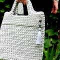 Crocheted handbag, size M, color Silver Shine  - Handbags & wallets - needlework