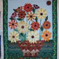 "Patchwork   ""Workflowers"" - For interior - sewing"