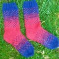 "Wool socks ""There and back again"" - Socks - knitwork"