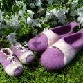 "slippers for mom and baby "" together "" - Shoes & slippers - felting"
