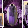 "Dress ,,Purple mirage"" - Dresses - knitwork"