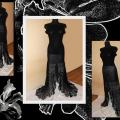 "Dress ,,Black Orchid "" - Dresses - needlework"