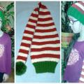 Striped hand knitted  hat - Hats - knitwork