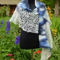 "felted white and blue cloak  ""heaven"" - Wraps & cloaks - felting"