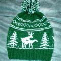 "Hand knitted hat ""Fornicating Deer"" - Hats - knitwork"