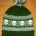 "Hand knitted hat ""Skulls"" - Hats - knitwork"