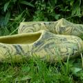 "felted green slipper ""explorations"" - Shoes & slippers - felting"