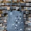 "Felted grey handbag ""hint"" - Handbags & wallets - felting"